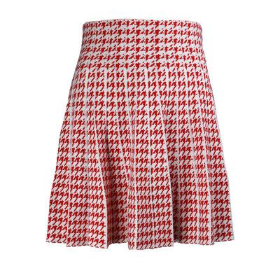 JAIMY Check skirt white red