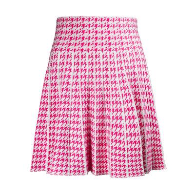 JAIMY Check skirt Fuschia