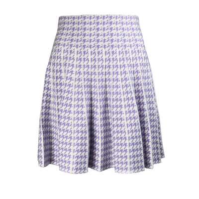 JAIMY Check skirt white lilac