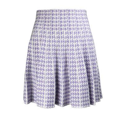 JAIMY Check skirt white lilac