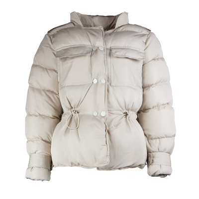 JAIMY Trendy short puffer coat beige