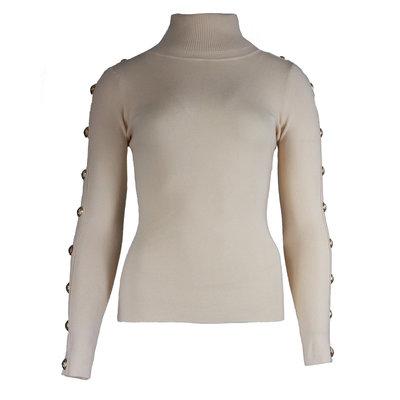 JAIMY Button col top beige