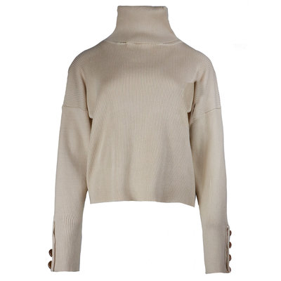 JAIMY Pearl button col top beige