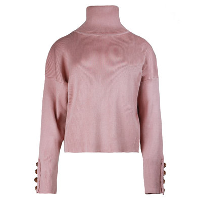 JAIMY Pearl button col top pink