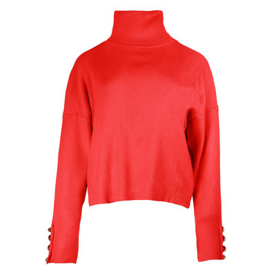 JAIMY Pearl button col top red