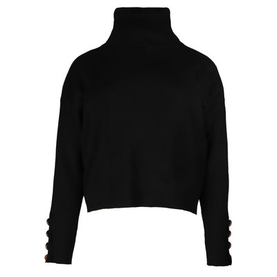 JAIMY Pearl button col top black