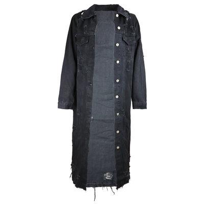 JAIMY Long destroyed denim jacket black