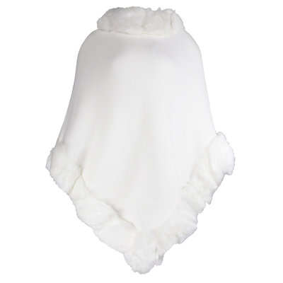 JAIMY Musthave faux fur poncho white