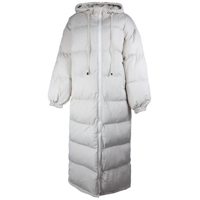 JAIMY Hoody long puffer jacket creme