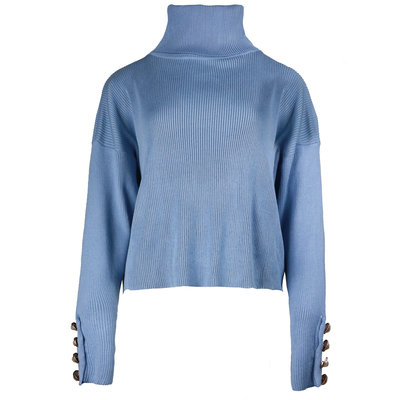 JAIMY Pearl button col top light blue