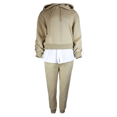 JAIMY Blouse detail jogger set beige