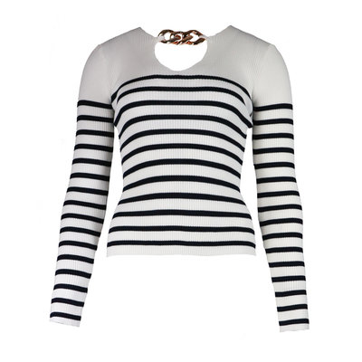 JAIMY Stripe chain top white
