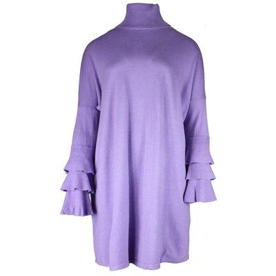 JAIMY Bente ruffle  sweaterdress lilac