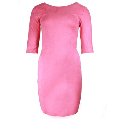 JAIMY Most beautiful suede dress hot pink
