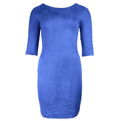 JAIMY Most beautiful suede dress blue