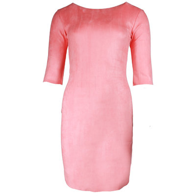 JAIMY Most beautiful suede dress light pink