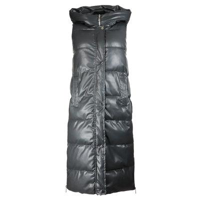 JAIMY Leather look puffer bodywarmer