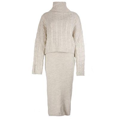 JAIMY 2-piece knitwear set beige