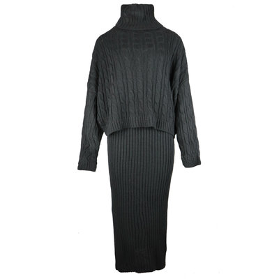 JAIMY 2-piece knitwear set black