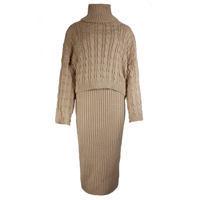 JAIMY 2-piece knitwear set camel