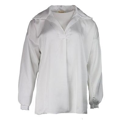 JAIMY Satin blouse v-neck white