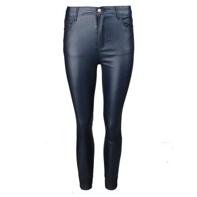 JAIMY All time leather look pants navy