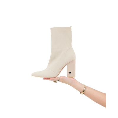 REINDERS Sock ankle boots creme