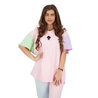 REINDERS T-shirt oversized pastel short sleeve