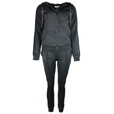 JAIMY Tracking suit sparkle stripe black