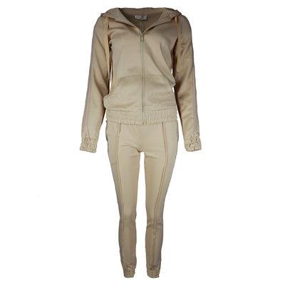JAIMY Tracking suit sparkle stripe beige