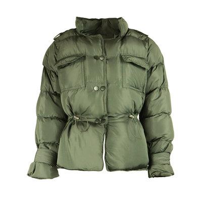 JAIMY Trendy short puffer coat army green