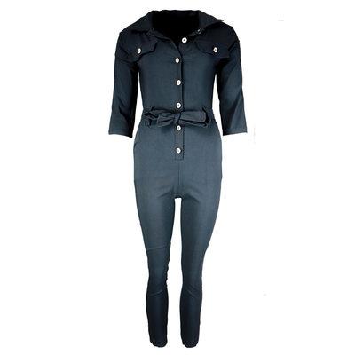 JAIMY Button up jumpsuit black