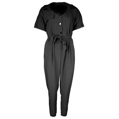 JAIMY Short sleeve jumpsuit black
