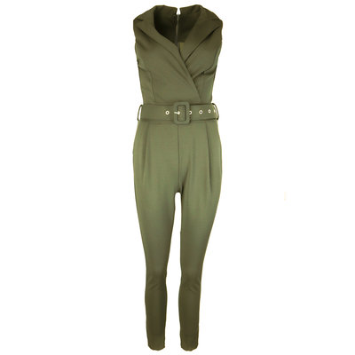 JAIMY Belted jumpsuit green