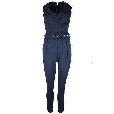 JAIMY Belted jumpsuit navy
