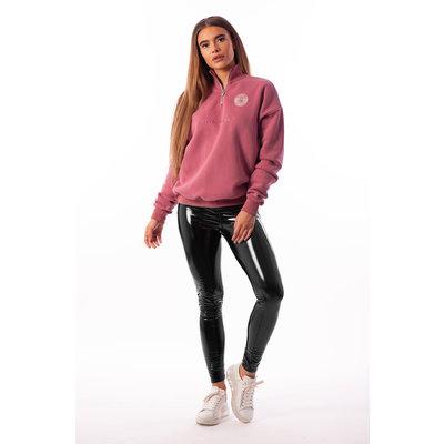 BLACK BANANAS High collar sweat pink