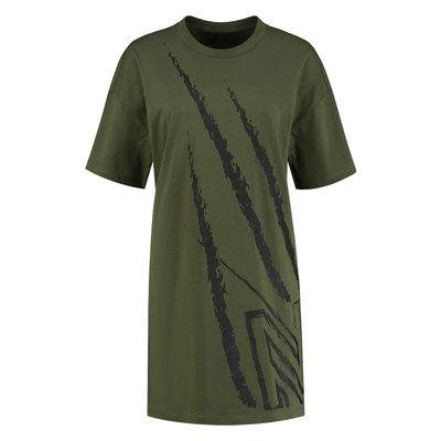 NIKKIE Claw oversized dress army green