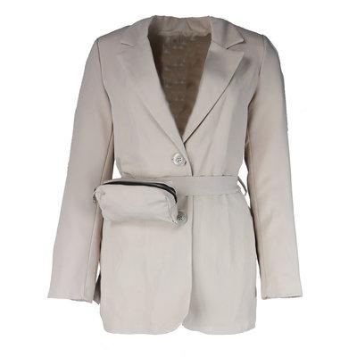 JAIMY Blazer with beltbag beige