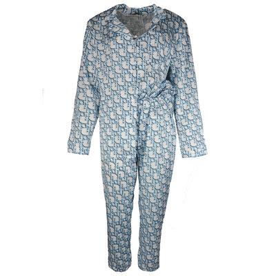 JAIMY Satin look pajamas letter print light blue