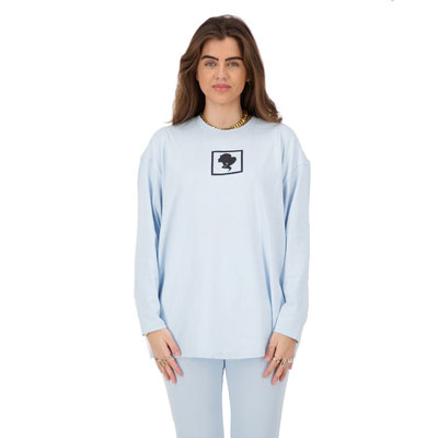 REINDERS Headlogo square t-shirt long sleeve baby blue