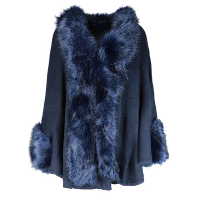 JAIMY Stay warm poncho navy