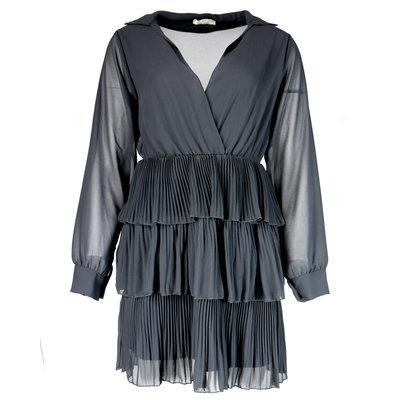 JAIMY Musthave plisse ruffle dress black