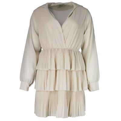 JAIMY Musthave plisse ruffle dress beige