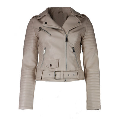 JAIMY Kim leather jacket beige