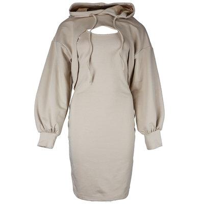 JAIMY On trend 2-piece hoodie dress beige