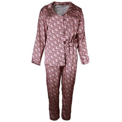 JAIMY Satin look pajamas letter print dark pink