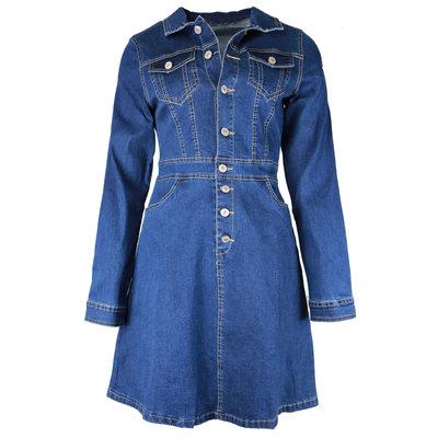 JAIMY A-line denim dress
