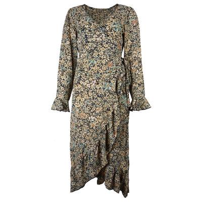 JAIMY Flower print wrap dress