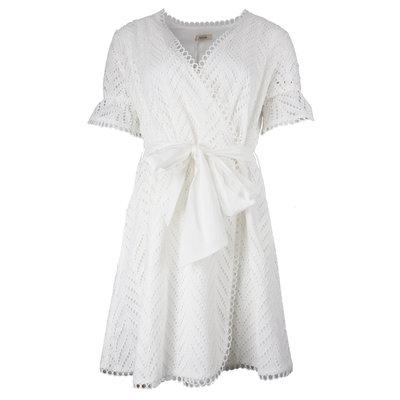 FRACOMINA Short dress sangallo cream