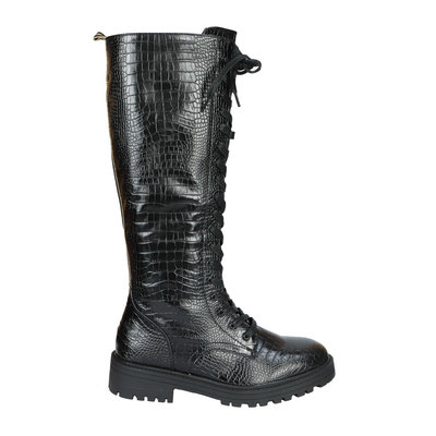 JAIMY High croco combat boots